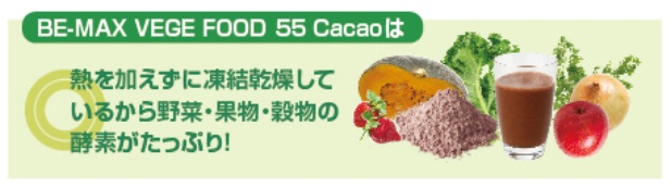 BE-MAX VEGE FOOD 55 Cacao(ベジフード55 カカオ)